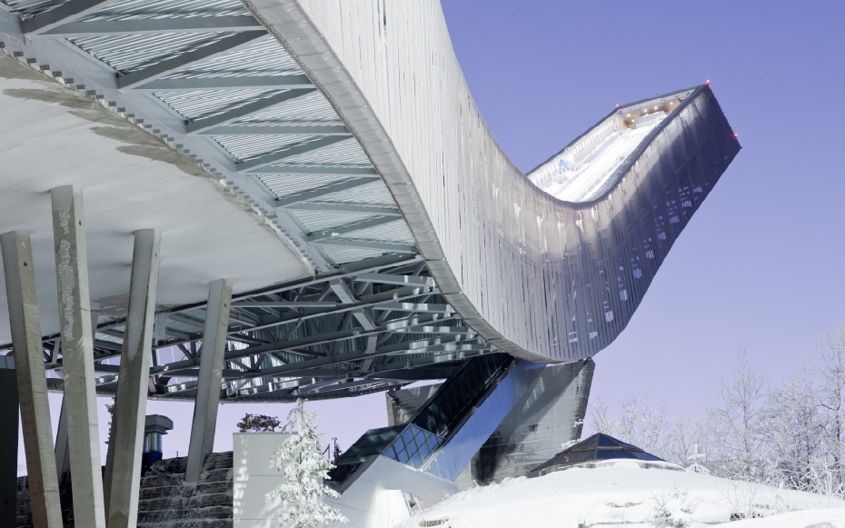Jds architects the holmenkollen ski jump wins 2011 eccs for Structural steel home designs